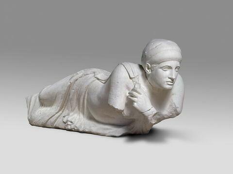 """moulage ; décor architectural ; statue ; Figure """"P"""" (?)"""