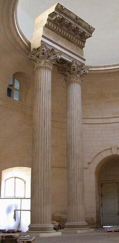 moulage ; élément d'architecture  ; Temple des Dioscures Castor et Pollux ou temple de Jupiter Stator