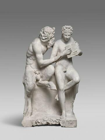 """moulage ; groupe statuaire ; Groupe dit """"de Pan et Daphnis"""" ou """" de Pan et Olympe""""."""