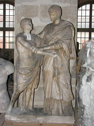 """moulage ; groupe statuaire ; """"Electre et Oreste"""" ou Papirius et sa mère"""