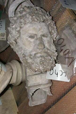 moulage ; statue  ; Tête du pugiliste Satyros