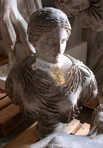 statue en buste ; Tirage de la tête de l'Aphrodite de Cnide
