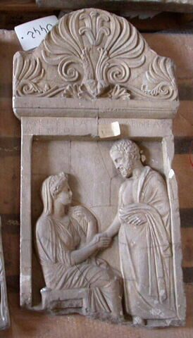 """stèle ; Stèle """"de Ménécratéia"""""""