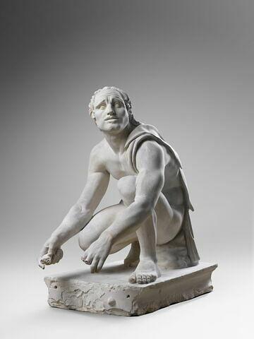 """moulage ; statue ; """"l'Esclave scythe"""", autrefois dit """"l'Arrotino"""" ou le """"Rémouleur""""."""