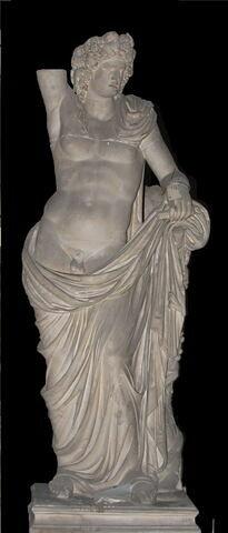 """moulage ; statue ; """"Bacchus de la Villa Albani""""."""