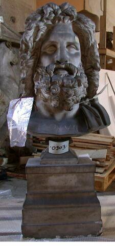 moulage ; statue en buste ; Zeus d'Otricoli