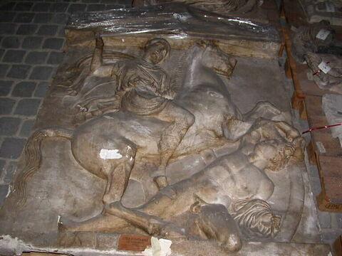 """moulage ; stèle ; Stèle funéraire attique dite """"de Dexiléos"""""""