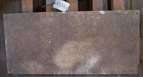 moulage ; inscription