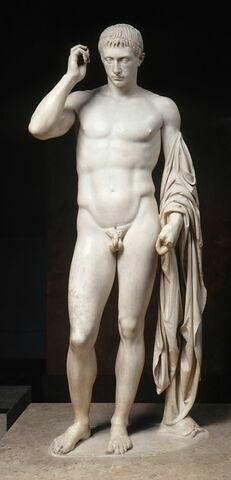 statue ; Germanicus, Marcellus, Auguste