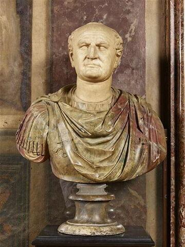 statue en buste ; Buste de Vespasien
