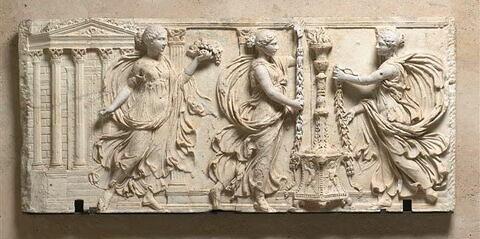 plaque de chancel ; relief ; Sacrifiantes Borghèse