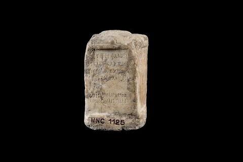cippe ; inscription