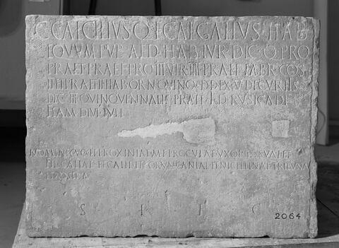 élément d'architecture ; inscription