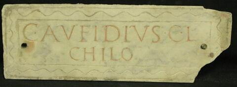 plaque de colombarium ; inscription