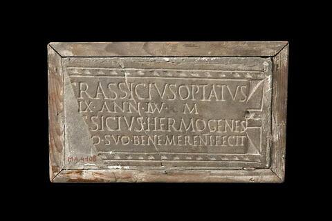 plaque de colombarium