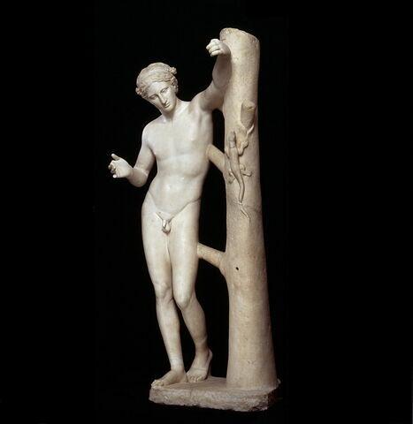 statue ; Apollon Sauroctone