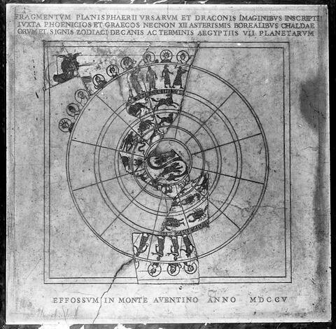 plaque  ; planisphère de Bianchini