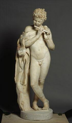 statue ; Satyre flûteur