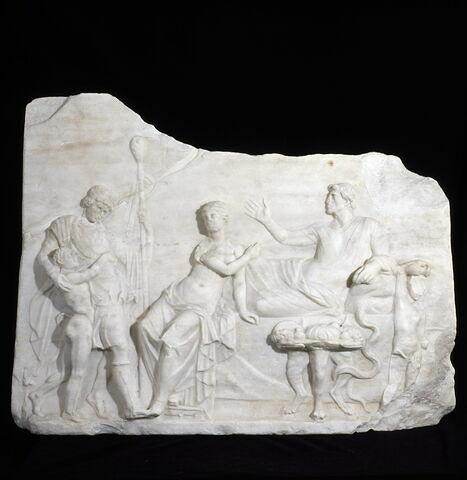 relief ; Dionysos chez Icarios