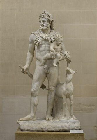 groupe statuaire ; Héraclès et Télèphe
