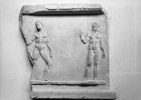 base de statue  ; relief