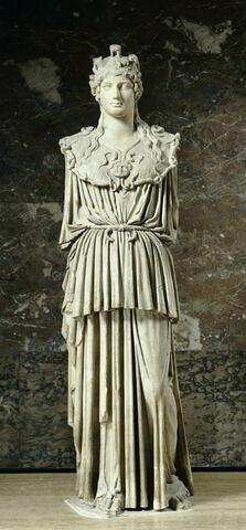 statue ; Minerve au collier