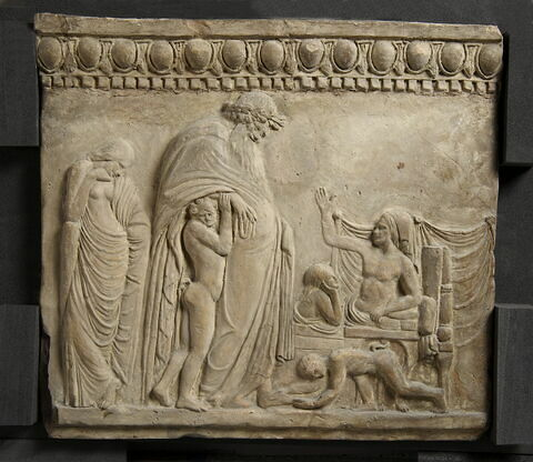 plaque Campana ; Dionysos chez Icarios