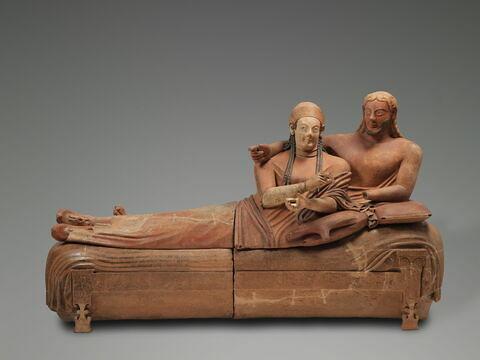 couvercle de sarcophage ; Sarcophage des époux