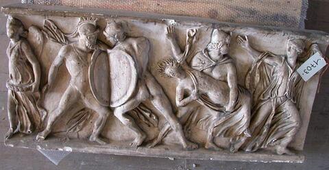 "moulage  ; sarcophage ; Sarcophage dit ""des Leucippides"""
