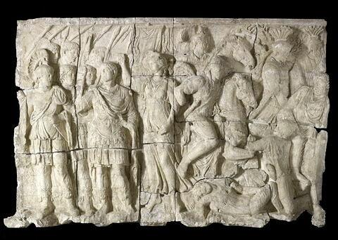 moulage ; Relief du Maître de la Geste de Trajan