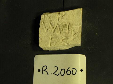 moulage  ; bloc de parement ; inscription