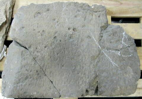 bloc de parement  ; inscription ; décret d'Anastase