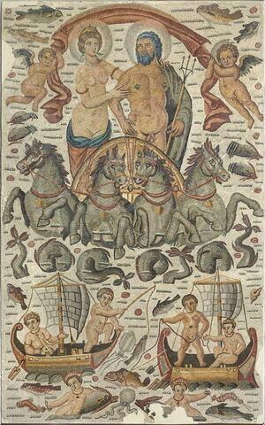 mosaïque  ; Mosaïque de Neptune et Amphitrite