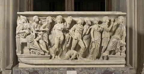 sarcophage ; Sarcophage de  Phèdre et d' Hippolyte