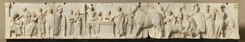 relief architectural ; Autel de Domitius Ahenobarbus