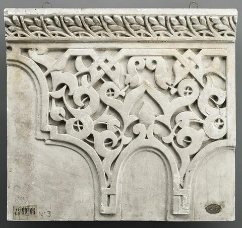 Moulage d'un décor architectural
