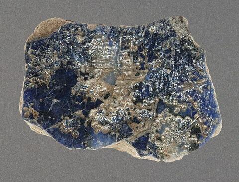 Tesson à glaçure bleu cobalt