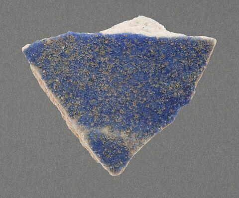 Tesson à glaçure bleue cobalt