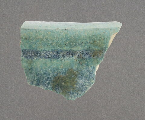 Bord à glaçure turquoise