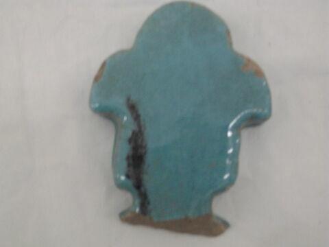 Fleuron glaçuré turquoise