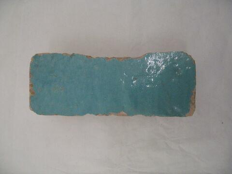 Brique (?) glaçurée turquoise