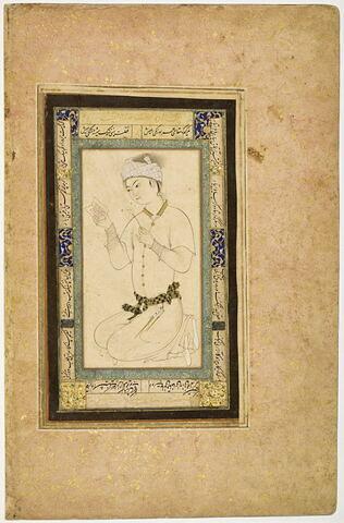 Jeune homme tenant un livre et un brin de narcisse