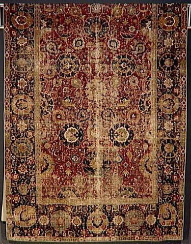 """Tapis à décor d'arabesques et de fleurs de lotus dit  """"herati"""" : """"tapis Seligman"""""""