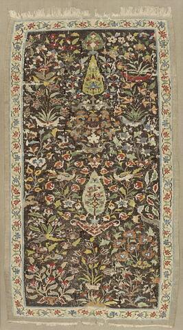 Kilim à décor floral