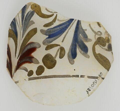 Fragment à décor végétal