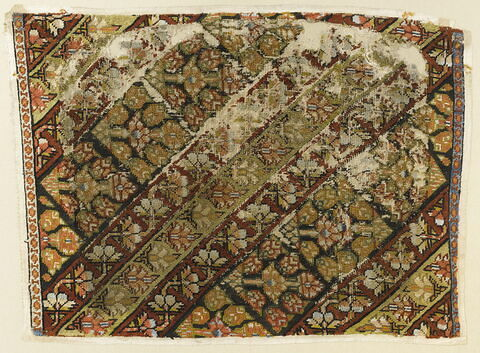 Morceau de pantalon de femme (shalvar) à rayures fleuries