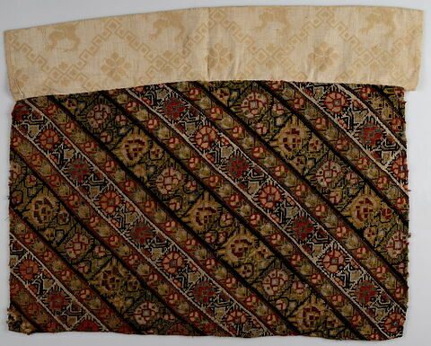 Morceau de pantalon de femme (shalvar) à rayures diagonales