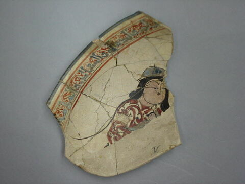 Fragment de bord de coupe au personnage
