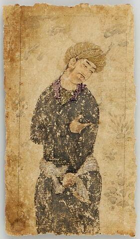 Homme au turban orné d'une aigrette