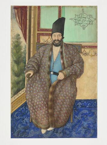 Portrait d'Ardashir Mirza, gouverneur de Téhéran (1853-1856)